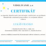 Certifikát o absolvovaní inovatívneho vzdelávania
